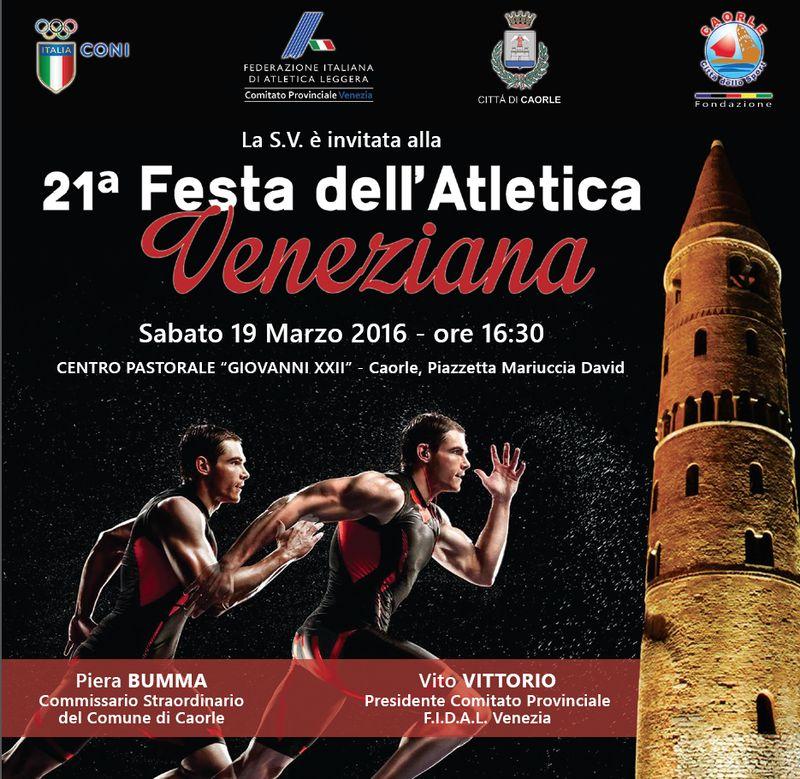 Locandina festa dello sport veneziano Caorle 2016